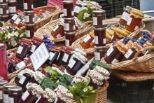 Des confitures sur le marché de Saint-Rémy-de-Provence, le 12 septembre 2012