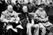 Churchill, Roosevelt et Staline à Yalta, le 11 février 1945