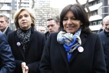 Valérie Pécresse et Anne Hidalgo à Paris le 6 février 2016