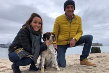 Le chien Driver, aux côtés de ses maîtres après une séparation de huit ans