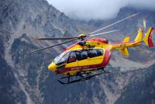 Un hélicoptère de secours dans le Massif du Mont blanc (illustration).