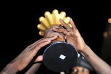 Le trophée de la Coupe d'Afrique des Nations