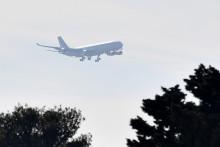 L'avion qui rapatrie les citoyens français présents au Wuhan (Chine).
