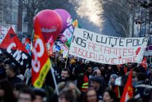 Des manifestants contre la réforme des retraites le 6 février 2020 à Paris (illustration)
