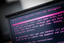 Un ordinateur touché par la cyberattaque du 27 juin 2017