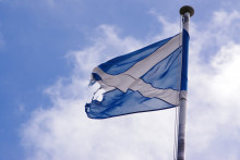 Drapeau de l'Écosse (illustration)