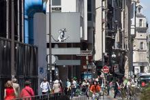La photo du pochoir du centre Pompidou, sur le compte Instagram de Banksy.