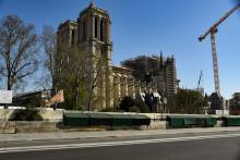 La cathédrale Notre-Dame de Paris le 25 mars 2020