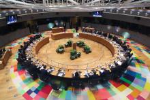 Une table de réunion des membres du G20, à Bruxelles (illustration)