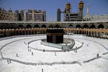 La Kaaba, à La Mecque, le 3 avril 2020