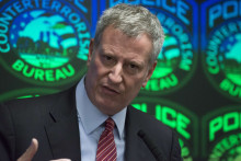 Bill de Blasio lors d'une conférence de presse à New York. (Illustration)