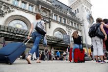 Départ en vacances gare de Lyon à Paris, en juillet 2016