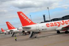 Des avions EasyJet à l'aéroport Roissy Charles-de-Gaulle, à Paris.