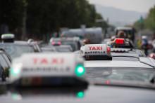 Des chauffeurs VTC à Marseille, le 23 mai 2018