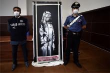 L'oeuvre, attribuée à Banksy a été retrouvée le 10 juin en Italie