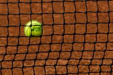 Une balle de tennis (image d'illustration).