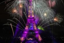 Le feu d'artifice du 14 juillet 2020 à la Tour Eiffel