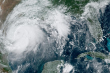 L'ouragan Hanna dans le Golfe du Mexique le 22 juin 2020.