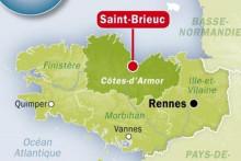 Carte de situation de Saint-Brieuc (Côtes-d'Armor)