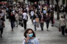 Une femme portant un masque de protection à Lyon, le 31 août 2020.