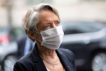 La ministre du Travail Elisabeth Borne en mai 2020 à Paris