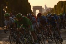 Les coureurs du Tour de France le 28 juillet 2019