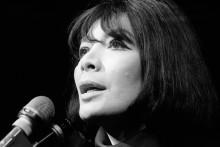 Juliette Gréco le 10 décembre 1968 lors d'un concert à Paris