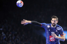 Nikola Karabatic avec les Bleus le 17 janvier 2017 à Nantes