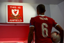 L'ancien joueur du Bayern Munich, Thiago Alcantara, sous ses nouvelles couleurs à Liverpool