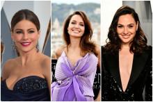 De gauche à droite, les actrices Sophia Vergara, Angelina Jolie et Gal Gadot, sont les 3 actrices les mieux payées en 2020