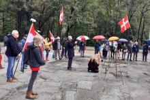 Les indépendantistes se sont réunis à la nécropole militaire de Morette, en Haute-Savoie.