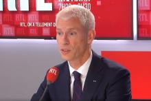 Franck RIESTER, ministre délégué chargé du Commerce extérieur et de l'Attractivité (Agir, ex-LR).