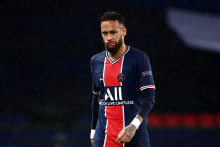 Neymar avec le PSG au Parc des Princes le 20 octobre 2020