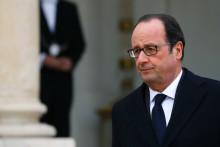 François Hollande à la sortie du Conseil des ministres, le 21 décembre 2016