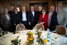 Le jury du prix Goncourt en mars 2020 au restaurant Drouant.