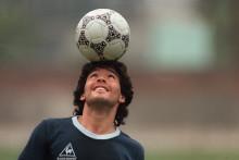 Diego Maradona en mai 1986
