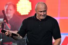 Le musicien Phil Collins à l'ouverture de l'US Open à New York, le 29 août 2016