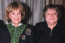 Jeanne Moreau et Josée Dayan à Paris chez Maxim's.