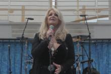 Bonnie Tyler pendant l'éclipse totale du 21 août 2017