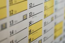 Un calendrier (illustration)