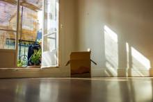 Un carton de déménagement (illustration)