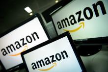 Les logo du géant du e-commerce Amazon (Illustration)