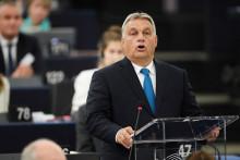 Le Premier ministre hongrois Viktor Orban s'exprime devant le Parlement européen