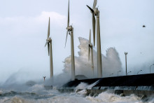 Des éoliennes au large de Boulogne-sur-Mer (Illustration)