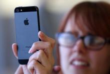 L'iPhone 5 à l'Apple Store de San Francisco le 21 septembre 2012
