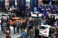 Le Mondial de l'automobile de Paris se déroule tous les deux ans. Ici, le Pavillon en octobre 2016