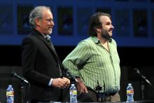 Steven Spielberg et Peter Jackson au Comic-Con San Diego en 2011
