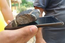 Un bout de météorite (illustration)