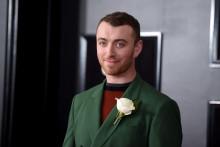 Sam smith lors de la cérémonie des Grammy Awards, le 28 janvier 2018 à New York