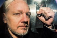 Julian Assange, le 1er mai 2019 à Londres